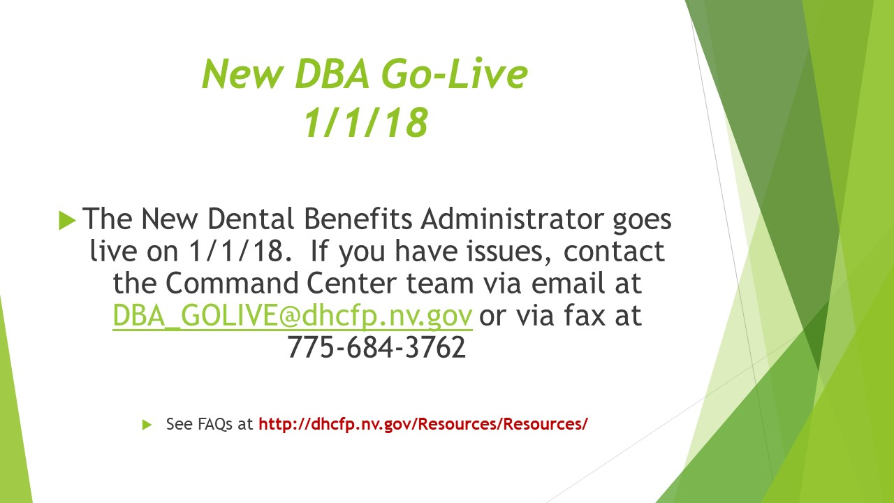 New Dental Benefits Administrator