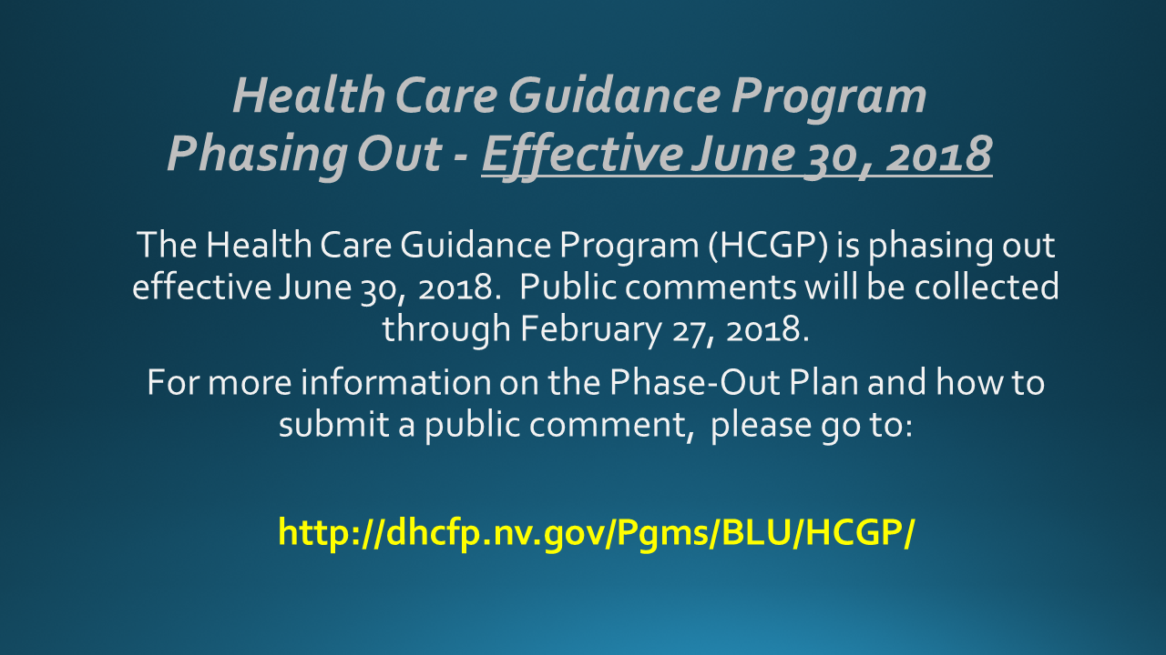 Health Care Guidance Program Phase-Out
