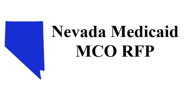 Blue Nevada image, text reads Nevada Medicaid MCO RFP